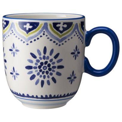 Threshold clifton mug set of 4 white and blue my for Blue mug designs