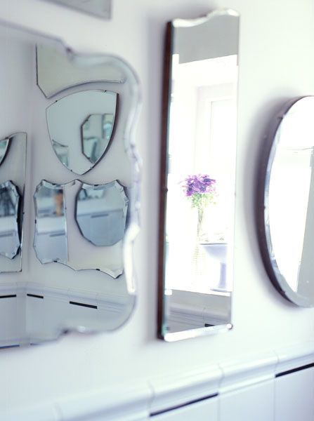 different shaped mirrors! (photo by Tim Evan-Cook)