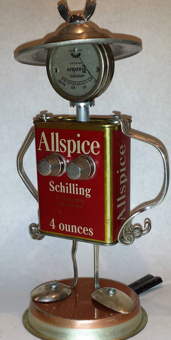 Miss Allspice Found object robot