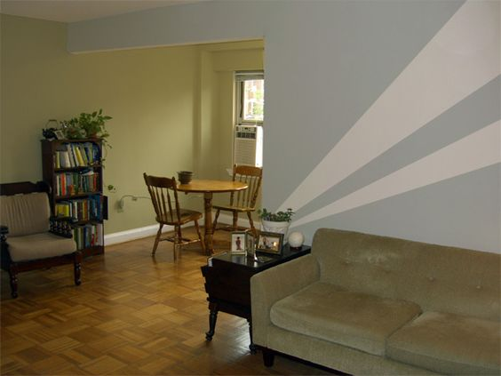 One of the biggest obstacles in painting a rental apartment is the landlord! Quite often, you are not allowed to paint or modify the apartment in any seemingly permanent or way. One of my friends, however, actually got permission to...