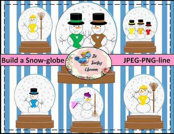 $3.50 Build a Snow Globe or Build a Snow man - Oh,  the possibilities!TheTravelingclassroom