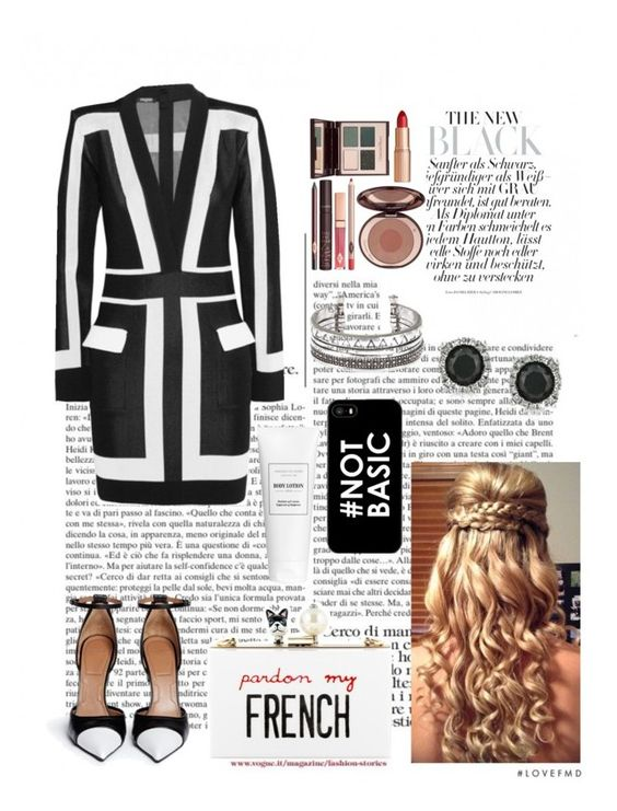 """""""**Black and white**"""" by sandramahomie ❤ liked on Polyvore"""