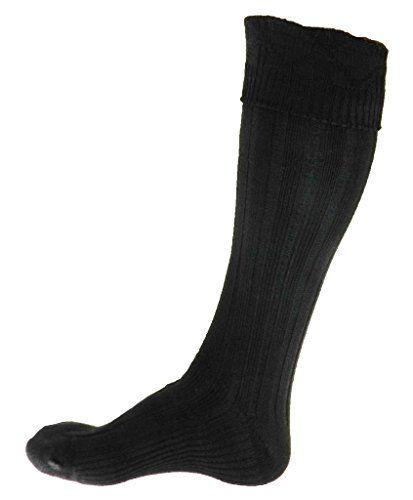 Scottish Kilt Black Hose Medium (USA Men's Shoe Size 7-9…