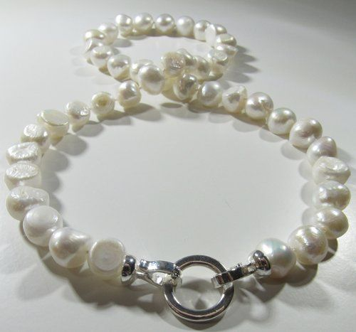 Shop Pearl Jewelry White Pearl Necklace Nugget Pearl Necklace Pearl Jewelry Necklace