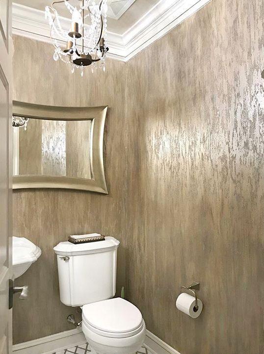 Glass Bead Gel Finish On Powder Bath Walls By Artist Chris Vaught Studios Modern Masters Powder Painting Textured Walls Modern Masters Modern House Design