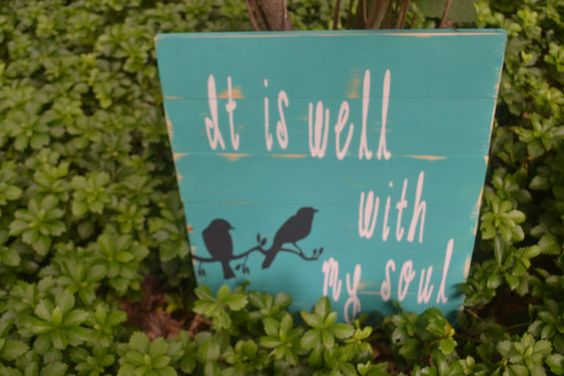 Distressed  Well With My Soul Wooden Pallet/Sign Decor/Family Room Wall art