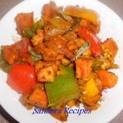 Sweet Potato Pepper Fry