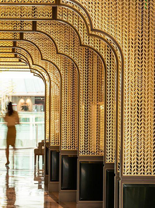 Jade Garden By Zha In 2020 Feature Wall Design Restaurant Interior Design Screen Design