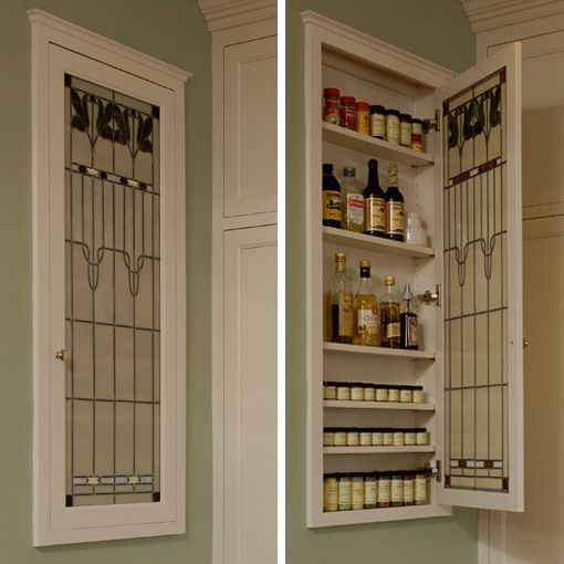 Stained Glass For Kitchen Cabinets: Spice Cabinets, Stained Glass And Cabinets On Pinterest