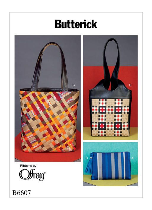 B6607 Ribbon Bags Butterickpatterns Sewingpattern Handbag Patterns Butterick Pattern Bag Patterns To Sew