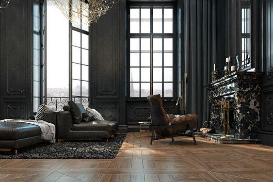 Dramatic Paris apartment