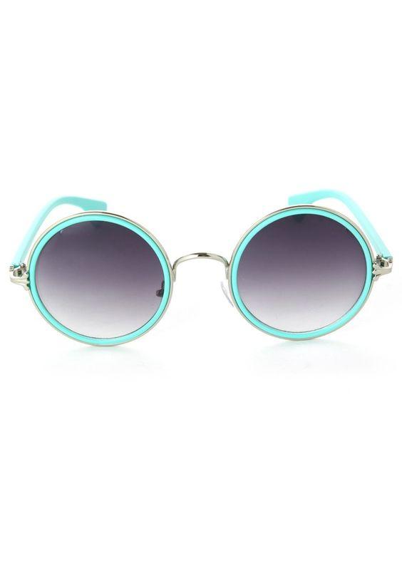 Macaron Color Round Sunglasses