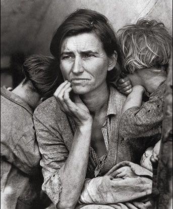 Very moving photos.  The mother in these photos is only 32 years old.  Think about how hard some people think they have it...   http://www.loc.gov/rr/print/list/128_migm.html