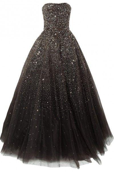 robe de mariee coloree originale noire paillettes Marchesa Carnet d'inspiration mariage Mademoiselle Cereza