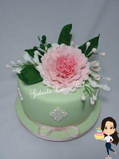 Bolos de Pasta Americana - Gabriela Lemos Cakes: Bolo Flores - Dia das Mães