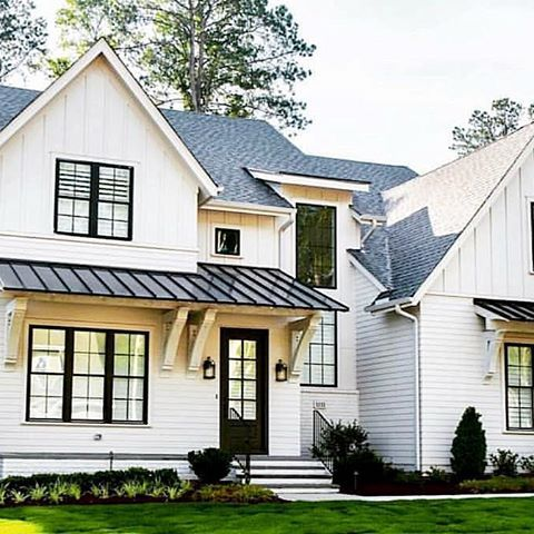 Love The Metal Roof Over That Front Porch Stained Elements On