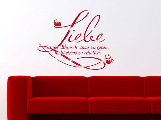 #Wandtattoo mit #Swarovski Liebe Wunsch #Hochzeit #Geschenk #Valentinstag
