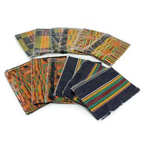 Set Of 12 Economy Grade Kente Scarves $39.50 Each one represents wealth and royalty throughout Africa.  C-A929E