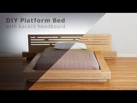 These Guys Built A Bed From 7 Sheets Of Plywood And The Video Is So Relaxing Apartment Therapy Diy Platform Bed Build A Platform Bed Contemporary Bed Frame