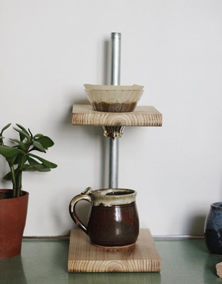 Pour-Over Coffee Stand | http://diygiftworld.com/pour-over-coffee-stand/