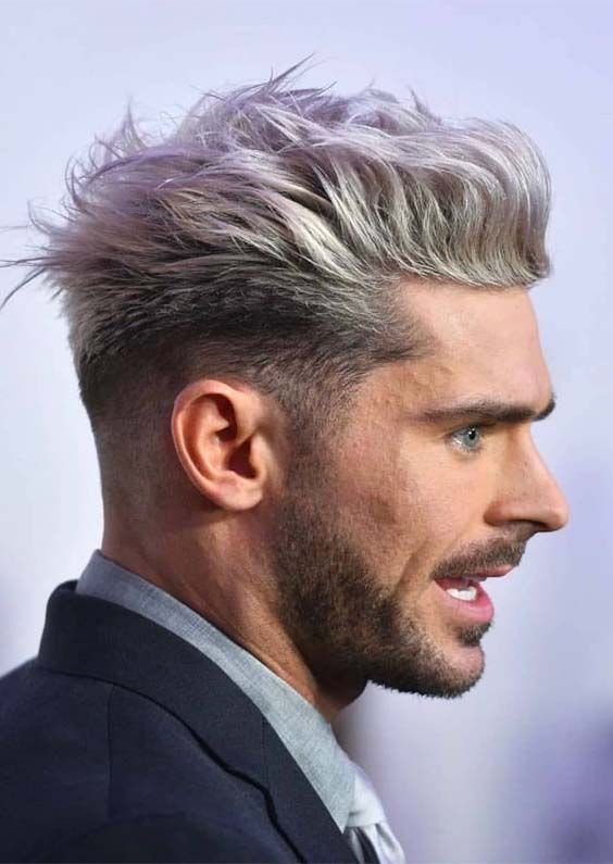 Best Ever Men S Haircuts Hair Color Ideas For 2019 Absurd Styles Grey Hair Men Mens Hair Colour Men Hair Color