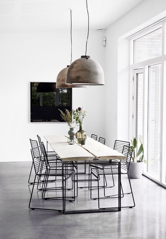 Pinterest 39 S Most Popular Home D Cor Trends Of 2016 Minimalist Decor Industrial And Dinning Table