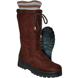 SNOW BOOTS - Women&39s Cassadee Quiled Micro Suede Winter Boot with