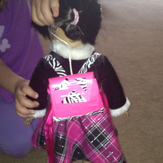 Duct Tape Backpack For American Girl Doll American Girl