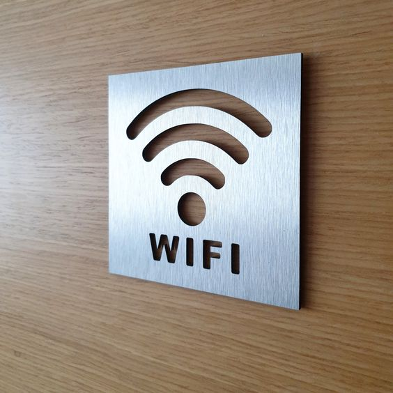 wifi sign,wi-fi, sign for doors, office sign, restaraunt sign, aluminium sign, outdoor sign, home sign, apartment sign, library sign