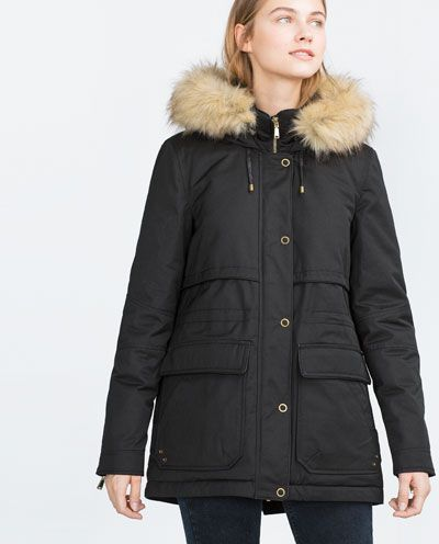 veste militaire courte parkas manteaux femme zara france. Black Bedroom Furniture Sets. Home Design Ideas