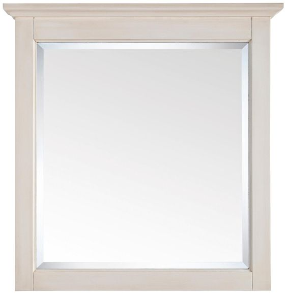 "Tropica Antique White 32"" High Vanity Wall Mirror -"