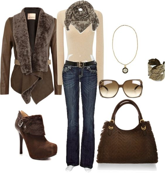 """Deep Cool Brown"" by jax522 on Polyvore"