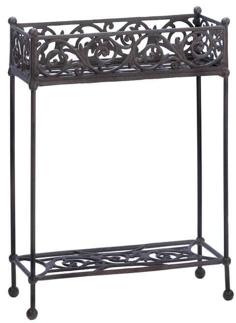 Zingz Thingz Rectangular Plant Stand Plant Stand Iron Plant