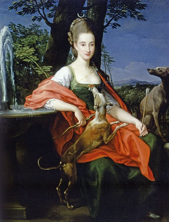 Portrait of unknown lady as Diana, 1776 by Pompeo Batoni: