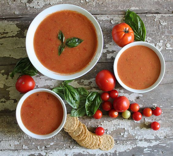 A creamy non-dairy tomato soup perfect for using your remaining summer tomatoes in this warm, classic, satisfying soup.