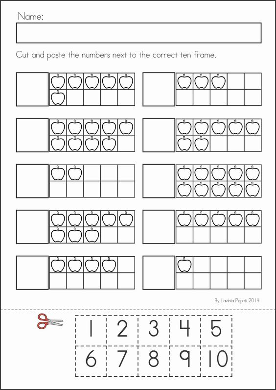 Back to School Math and Literacy Worksheets and Activities No Prep – Cut and Paste Math Worksheets