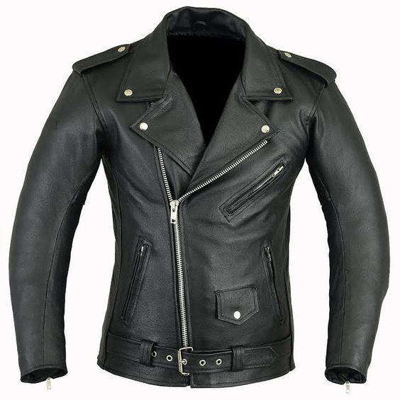 MENS BRANDO MOTORCYCLE / BIKER REAL LEATHER JACKET Various Sizes