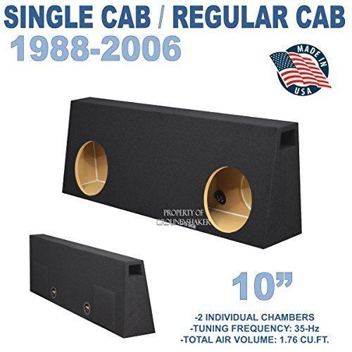 Dual 12 Subwoofer Regular Standard Cab Truck Sub Box Enclosure 5//8 MDF Black