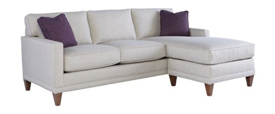 "Janice ""Designer Style"" Contemporary Sofa w/ Reversible Chaise Sectional"