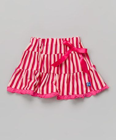 Loving this Candy Stripe Tiered Skirt - Infant, Toddler & Girls on #zulily! #zulilyfinds