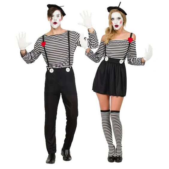 Pareja de Mimos Clown #parejas #disfraces #carnaval #novedades2016