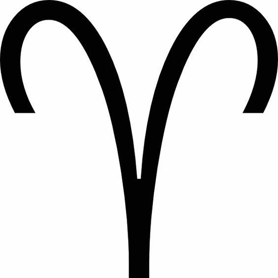 Astrologie - Symbole du signe zodiacal du Bélier.