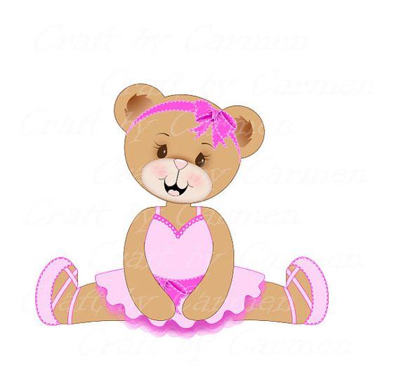 Cute bear bear ballerina sweet Teddy bear dance by CraftbyCarmen