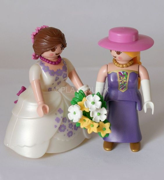 playmobil couple de maries mariage gay sujets pour pice monte figurine - Figurine Mariage Gay
