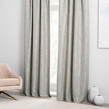 Bark Texture Jacquard Curtain Gold Westelm Interior Design Help