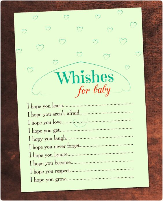 Wishes for baby baby shower templates and free printable for Wishes for baby printable template