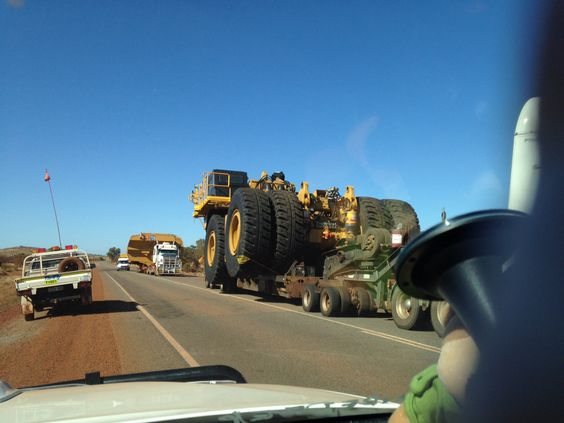 Another over size load on the Great Northern Highway, in the Pilbara - Western Australia.