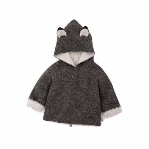 "Babyssimo.de - Oeuf NYC Wendepullover mit Kapuze ""Wolf"""