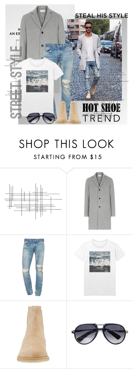 """""""Mens best way to wear coats"""" by stylemeup-649 ❤ liked on Polyvore featuring Crate and Barrel, Reiss, PRPS, INDIE HAIR and STONE ISLAND"""