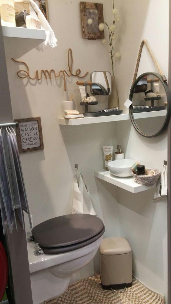 salle de bain blanche lin taupe naturel - Salle De Bain Blanche Et Taupe
